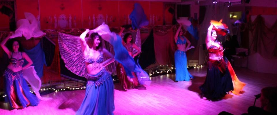 Fan veil dance, Pure Belly Dance Xmas party, 2014