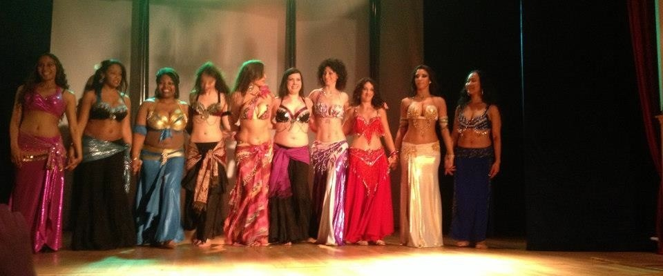 Sharing the stage with international dancer Sadie, 2013