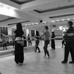 Patricia teaching belly dance at Om Studio